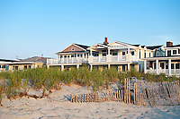 Beachfront houses in Ocean City, New Jersey, USA