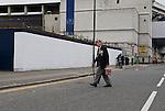 Tottenham Hotspur 0 Lazio 0, 20/09/2012. White Hart Lane, Europa League. ex-serviceman outside White Hart Lane. Photo by Simon Gill.