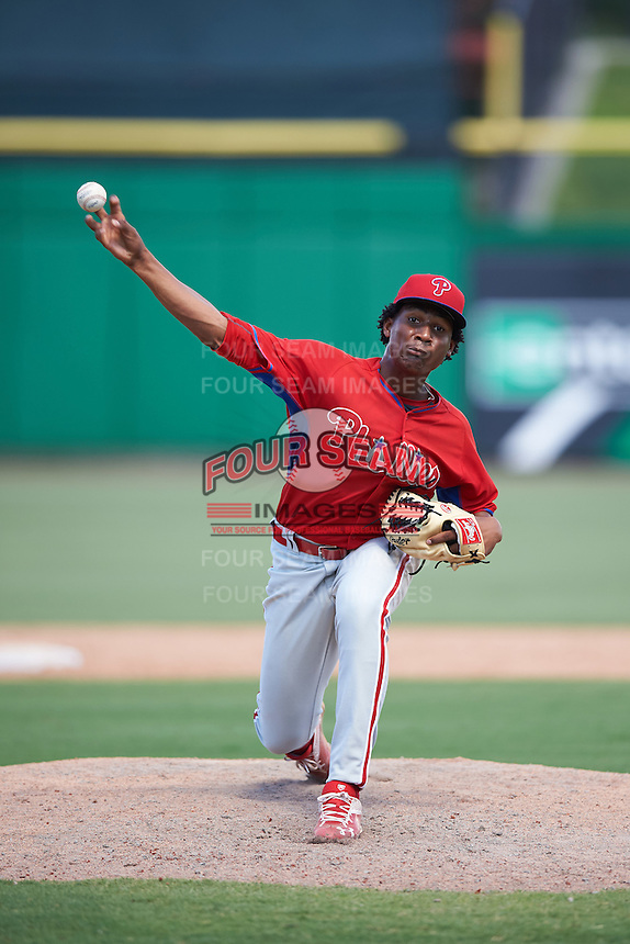 Philadelphia Phillies pitcher Sixto Sanchez (66) during an Instructional League game against the New York Yankees on September 27, 2016 at Bright House Field in Clearwater, Florida.  (Mike Janes/Four Seam Images)
