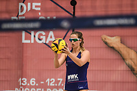 27th June 2020, Dusseldorf, Germany; The German Beach Volleyball League;  Sarah Overlaender