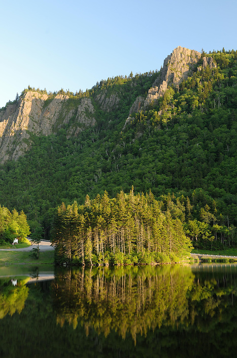 High above the floor of Dixville Notch, Table Rock catches the late afternoon light.