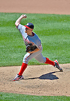 25 July 2012: Washington Nationals starting pitcher Stephen Strasburg on the mound against the New York Mets at Citi Field in Flushing, NY. The Nationals defeated the Mets 5-2 to sweep their 3-game series. Mandatory Credit: Ed Wolfstein Photo