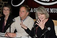 montreal (qc) Canada - dec 2<br />  2009,- Arlette cousture,  Paul Dupont-Hebert,<br />  Micheline Lanctot<br /> ,<br /> les filles de caleb - la comedie musicale press conference