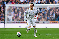 Sergio Ramos of Real Madrid during La Liga match between Real Madrid and Atletico de Madrid at Santiago Bernabeu Stadium in Madrid, Spain. February 01, 2020. (ALTERPHOTOS/A. Perez Meca)<br /> 01/02/2020 <br /> Liga Spagna 2019/2020 <br /> Real Madrid - Atletico Madrid  <br /> Foto Alterphotos / Insidefoto <br /> ITALY ONLY