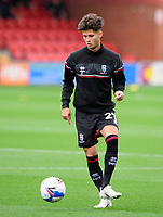 Lincoln City's Jamie Soule during the pre-match warm-up<br /> <br /> Photographer Chris Vaughan/CameraSport<br /> <br /> The EFL Sky Bet League One - Fleetwood Town v Lincoln City - Saturday 17th October 2020 - Highbury Stadium - Fleetwood<br /> <br /> World Copyright © 2020 CameraSport. All rights reserved. 43 Linden Ave. Countesthorpe. Leicester. England. LE8 5PG - Tel: +44 (0) 116 277 4147 - admin@camerasport.com - www.camerasport.com