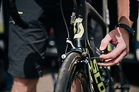 last details (brakes) checked before the start<br /> <br /> 104th Tour de France 2017<br /> Stage 7 - Troyes › Nuits-Saint-Georges (214km)