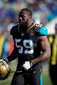 Jacksonville Jaguars Carroll Phillips (59) during an NFL Wild-Card football game against the Buffalo Bills, Sunday, January 7, 2018, in Jacksonville, Fla.  (Mike Janes Photography)
