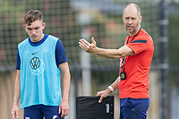 FRISCO, TX - JULY 20: Gregg Berhalter speaks to player during training during a training session at Toyota Soccer Center FC Dallas on July 20, 2021 in Frisco, Texas.