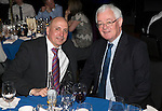 St Johnstone FC Hall of Fame Dinner, Perth Concert Hall….03.04.16<br />Hall of Fame Inductee Steve Maskrey (left) with Stewart Duff<br />Picture by Graeme Hart.<br />Copyright Perthshire Picture Agency<br />Tel: 01738 623350  Mobile: 07990 594431