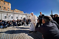 Pope Francis  during his weekly general audience on St.Peter's square at the Vatican on September 26, 2018