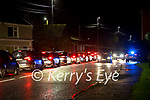 Cars queuing at the HSE Covid-19 testing centre at Ballymullen barracks in Tralee on Thursday evening.
