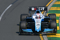 March 16, 2019: George Russell (GBR) #63 from the Williams Racing team rounds turn 2 during practice session three at the 2019 Australian Formula One Grand Prix at Albert Park, Melbourne, Australia. Photo Sydney Low