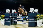 Ping-Yang Hsieh of Chinese Taipei riding Just Energie competes in  the Longines Speed Challenge during the Longines Masters of Hong Kong at AsiaWorld-Expo on 10 February 2018, in Hong Kong, Hong Kong. Photo by Ian Walton / Power Sport Images
