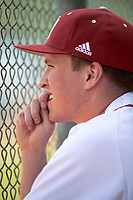 Indiana Hoosiers Austin Foote (33) during a game against the Seton Hall Pirates on March 5, 2016 at North Charlotte Regional Park in Port Charlotte, Florida.  Seton Hall defeated Indiana 6-4.  (Mike Janes/Four Seam Images)