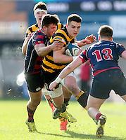 Monday 27th February 2017   ULSTER SCHOOLS CUP SEMI-FINAL<br /> <br /> James Hume during the Ulster Schools Cup Semi-Final between RBAI and Ballymena Academy  at Kingspan Stadium, Ravenhill Park, Belfast, Northern Ireland. <br /> <br /> Photograph by John Dickson   www.dicksondigital.com
