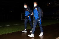 Bolton Wanderers' Tom White (left) and Lloyd Isgrove arriving at the stadium <br /> <br /> Photographer Andrew Kearns/CameraSport<br /> <br /> EFL Papa John's Trophy - Northern Section - Group C - Bolton Wanderers v Newcastle United U21 - Tuesday 17th November 2020 - University of Bolton Stadium - Bolton<br />  <br /> World Copyright © 2020 CameraSport. All rights reserved. 43 Linden Ave. Countesthorpe. Leicester. England. LE8 5PG - Tel: +44 (0) 116 277 4147 - admin@camerasport.com - www.camerasport.com