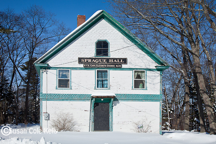 An old Grange building in Scarborough, ME, USA