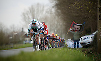 Martin Mortensen (DNK/ONE) pushing it<br /> <br /> 71st Nokere Koerse