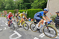 2nd July 2021; Le Creusot, France; NIELSEN Magnus Cort of EF EDUCATION - NIPPO, MOHORIC Matej (SLO) of BAHRAIN VICTORIOUS, STUYVEN Jasper (BEL) of TREK - SEGAFREDO and VAN MOER Brent (BEL) of LOTTO SOUDAL during stage 7 of the 108th edition of the 2021 Tour de France cycling race, a stage of 248,1 kms between Vierzon and Le Creusot
