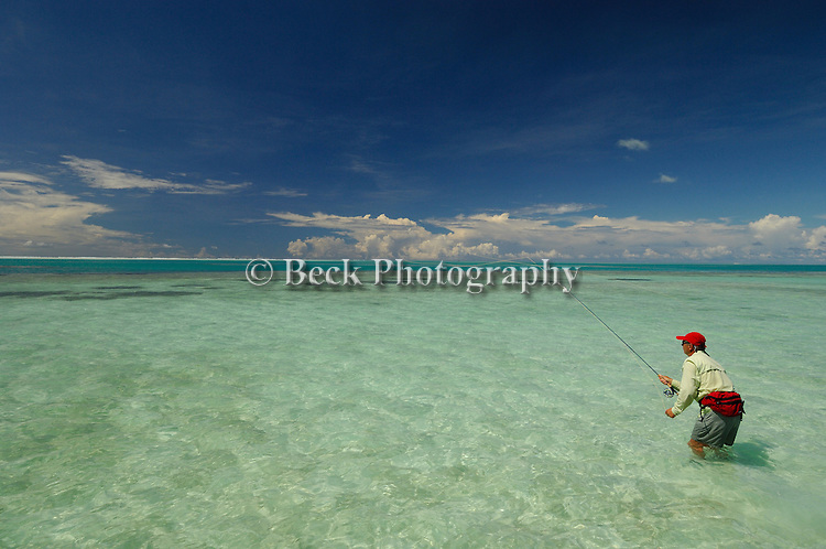 Saltwater fly fishing on Alphonse Island, Seychelles