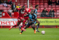 Roarie Deacon of Crawley Town during the Sky Bet League 2 match between Crawley Town and Wycombe Wanderers at Checkatrade.com Stadium, Crawley, England on 29 August 2015. Photo by Liam McAvoy.