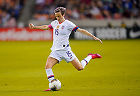 HOUSTON, TX - JANUARY 31: Megan Rapinoe #of the United States sends a ball downfield during a game between Panama and USWNT at BBVA Stadium on January 31, 2020 in Houston, Texas.