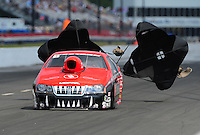 May 14, 2011; Commerce, GA, USA: NHRA pro stock driver V. Gaines during qualifying for the Southern Nationals at Atlanta Dragway. Mandatory Credit: Mark J. Rebilas-