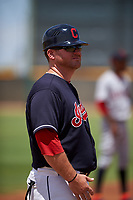 AZL Indians Blue manager Larry Day (27) during an Arizona League game against the AZL Indians Red on July 7, 2019 at the Cleveland Indians Spring Training Complex in Goodyear, Arizona. The AZL Indians Blue defeated the AZL Indians Red 5-4. (Zachary Lucy/Four Seam Images)