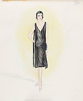 BNPS.co.uk (01202 558833)<br /> Pic: AuctionHub/BNPS<br /> <br /> Pictured: Autumn 1926.<br /> <br /> A collection of fashion illustrations owned by Cecil Beaton have emerged for sale for £20,000.<br /> <br /> The drawings were given to the current seller, who has not been identified, by society and fashion photographer and costume designer Beaton as a thank you gift.<br /> <br /> Totalling over 500 designs from the 1920s and 30s, the illustrations have now been put up for auction with The Auction Hub, based in Westbury, Wiltshire.<br /> <br /> Cecil Beaton was an influential photographer, working for Vogue and Vanity Fair, as a war photographer, and taking society portraits of the Royal family and a host of celebrities.
