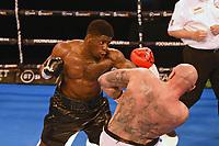 David Adeleye (black shorts) defeats Kamil Sokolowski during a Boxing Show at York Hall on 24th April 2021
