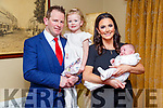 Baby Ella with her parents Tim & Sinead Scanlon and sister Holly, Abbeyfeale who was christened in Abbeyfeale Church by Fr. Mullins and afterwards at the Listowel Arms Hotel.