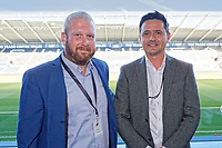 Pictured: Local business people attend the event. Thursday 27 September 2018<br /> Re: Swansea City AFC Business Networking event at the Liberty Stadium, Wales, UK.