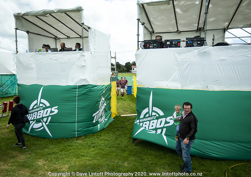 The Stags walk out for the Mitre 10 Cup Cup rugby match between Manawatu Turbos and Southland Stags at Manfeild Park in Feilding, New Zealand on Saturday, 1 November 2020. Photo: Dave Lintott / lintottphoto.co.nz