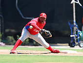 March 30, 2010:  First Baseman Jonathan Singleton of the Philadelphia Phillies organization during Spring Training at the Carpenter Complex in Clearwater, FL.  Photo By Mike Janes/Four Seam Images