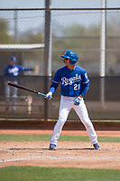 Kansas City Royals shortstop Matt Morales (21) during a Minor League Spring Training game against the Milwaukee Brewers at Maryvale Baseball Park on March 25, 2018 in Phoenix, Arizona. (Zachary Lucy/Four Seam Images)
