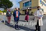 Minister for Education Norma Foley at the announcement of the multi million development plan for the Aras Padraig with Kerry Mayor Brendan Cronin and kIllarney MAyor Niall Kelleher on Friday