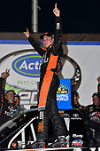 2017 NASCAR Camping World Truck Series - Active Pest Control 200<br /> Atlanta Motor Speedway, Hampton, GA USA<br /> Saturday 4 March 2017<br /> Christopher Bell celebrates his win in Victory Lane<br /> World Copyright: Nigel Kinrade/LAT Images<br /> ref: Digital Image 17ATL1nk06545
