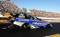 Mar. 12, 2011; Gainesville, FL, USA; NHRA funny car driver Bob Tasca III during qualifying for the Gatornationals at Gainesville Raceway. Mandatory Credit: Mark J. Rebilas-.