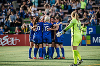 Seattle, WA - Sunday, May 21, 2017: Seattle Reign FC, Beverly Yanez during a regular season National Women's Soccer League (NWSL) match between the Seattle Reign FC and the Orlando Pride at Memorial Stadium.