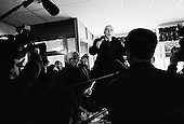 Kenne, New Hampshire.USA.January 27, 2004..Democratic Primay candidate Wesley Clark campaigns hard the last day before the voting in New Hampshire at the Timoleon's restaurant.