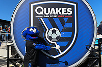 SAN JOSE, CA - FEBRUARY 29: Mascot during a game between Toronto FC and San Jose Earthquakes at Earthquakes Stadium on February 29, 2020 in San Jose, California.