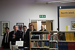 """© Joel Goodman - 07973 332324 . 16/11/2017. Manchester, UK. Former British Prime Minister GORDON BROWN (pictured arriving with Mayor of Manchester ANDY BURNHAM) to host a talk about the financial crash and his time in politics, as Chancellor and then Prime Minister, as part of his promotional tour for his book , """" My Life, Our Times """", at the Manchester Central Library . Photo credit : Joel Goodman"""