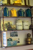France, Nord (59),Côte d'Opale, Zuydcoote:  Estaminet: Joyeux Retour des Pêcheurs - détail décoration //  France, Nord, Opal Coast, Zuydcoote: Decoration detail