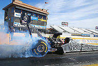 Feb 4, 2016; Chandler, AZ, USA; NHRA top fuel driver Dave Connolly during pre season testing at Wild Horse Pass Motorsports Park. Mandatory Credit: Mark J. Rebilas-USA TODAY Sports