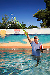 Rich, a pool boy at the Phoenician Resort.<br /> <br /> Shot for 944 Magazine.
