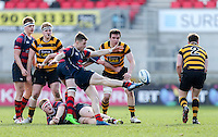 Monday 27th February 2017 | ULSTER SCHOOLS CUP SEMI-FINAL<br /> <br /> Michael Stronge during the Ulster Schools Cup Semi-Final between RBAI and Ballymena Academy  at Kingspan Stadium, Ravenhill Park, Belfast, Northern Ireland. <br /> <br /> Photograph by John Dickson | www.dicksondigital.com