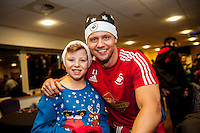 Tuesday  15 December 2015<br /> Pictured: Lee Trundle<br /> Re: Kids SCFC Christmas Party at the Liberty Stadium, Swansea