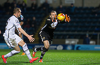 Goalkeeper Roy Carroll of Notts County gathers the ball late on during the Sky Bet League 2 match between Wycombe Wanderers and Notts County at Adams Park, High Wycombe, England on 15 December 2015. Photo by Andy Rowland.