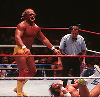 Hulk Hogan   Randy Macho Man Savage 1988<br /> Photo By John Barrett/PHOTOlink