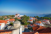 The traditional houses at the old Chora of Alonissos island, Greece